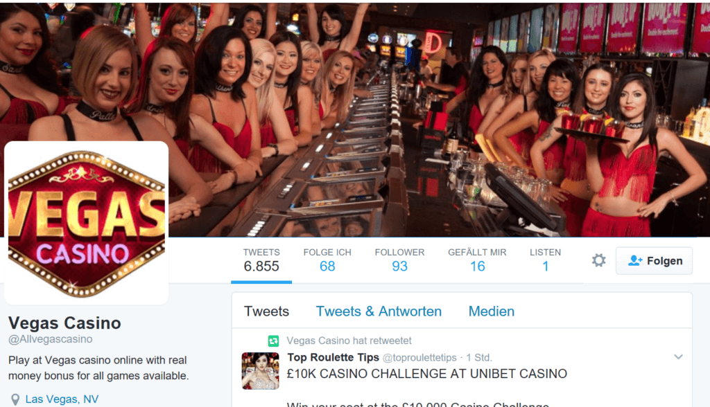Online Casino Vegas Casino - Social Bots