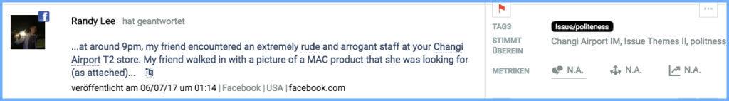 Ärger landet auf Facebook. Unfreundliches Store Personal wird im Nachgang damit konfrontiert.