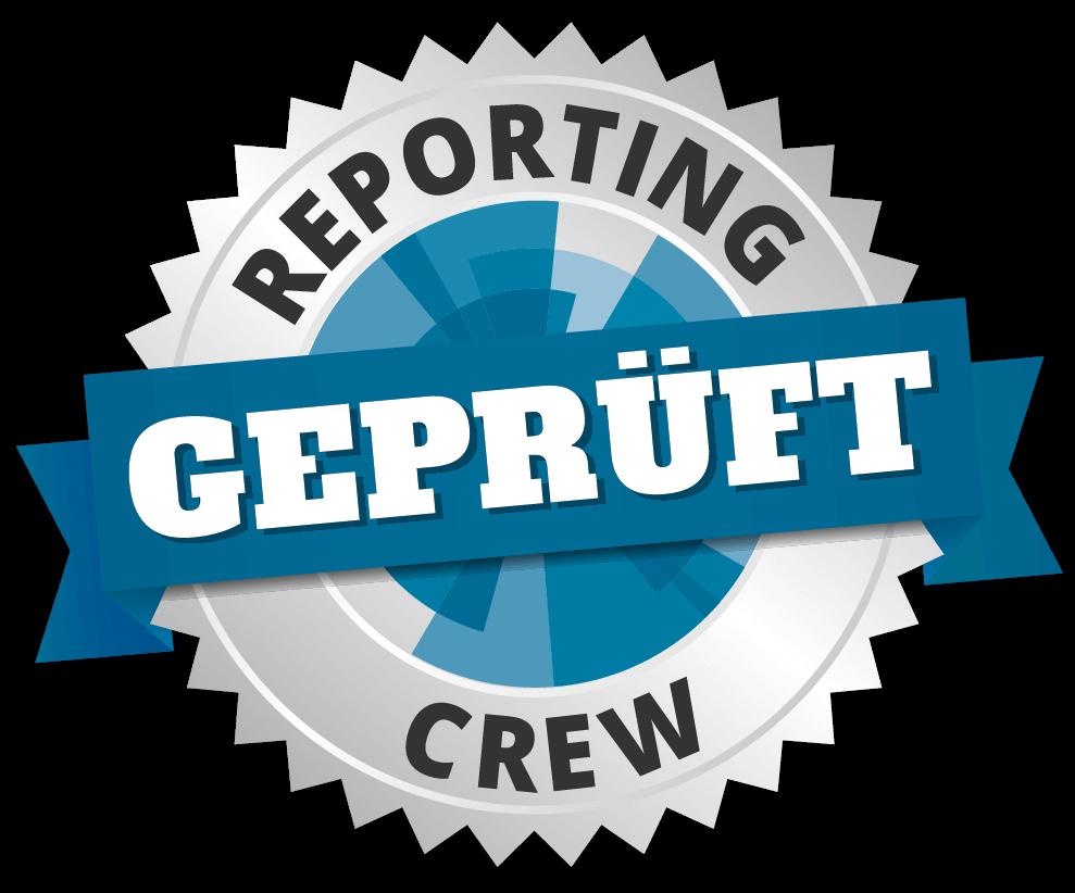 Das Reporting Crew Prüfsiegel